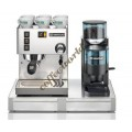Rancilio Set of Silvia Coffee Machine, Rocky Doser Coffee Grinde