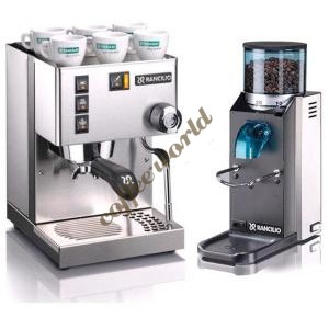 Rancilio Set of Silvia Coffee Machine and Rocky No Doser Coffee