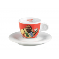 Lucaffe - Espresso Cup with Saucer Red