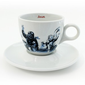 Lucaffe - Cappuccino Cup with Saucer Blucaffe