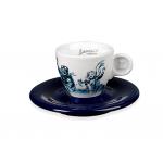Lucaffe - Espresso Cup with Saucer Blucaffe